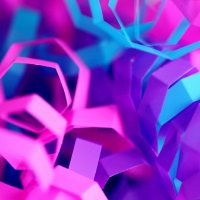 photograph of coiled brightly coloured paper